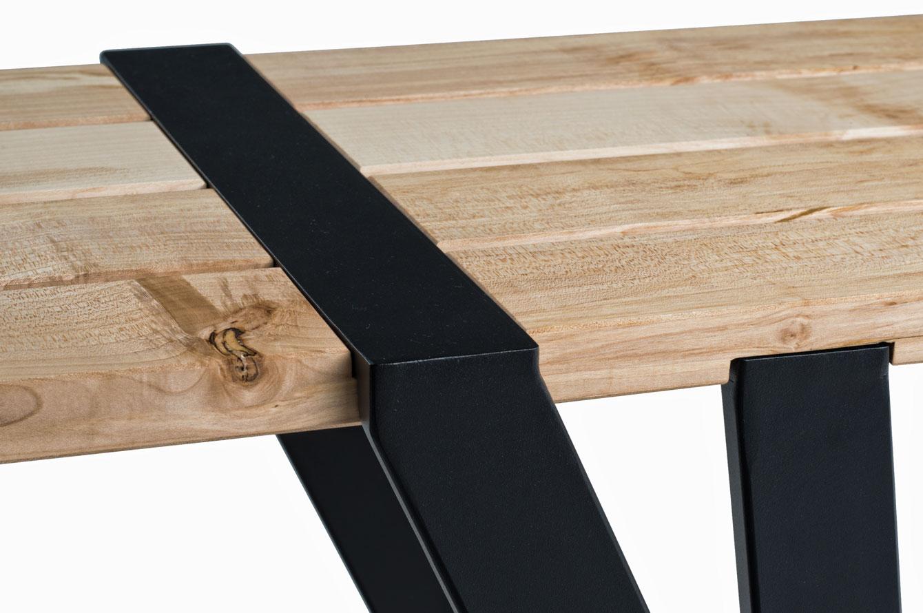 Design möbel stahl  Klemmbrett Bank   Manuel Welsky Design Studio